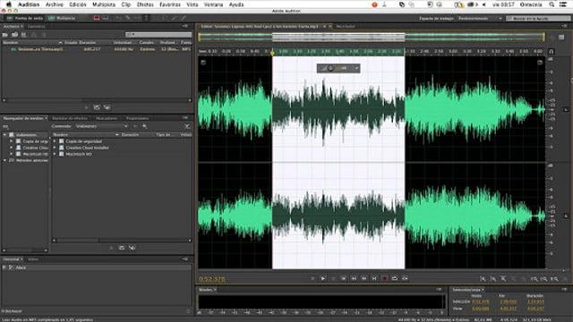 Imagem IU Adobe Audition