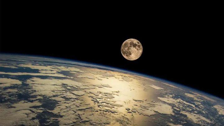 Imagem da Lua e da Terra