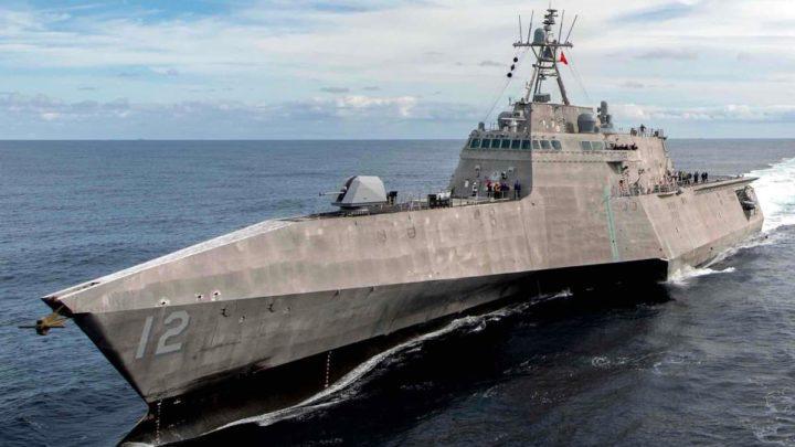Vaso de guerra da marinha dos Estados Unidos da América que detetaram os hipotéticos OVNIs