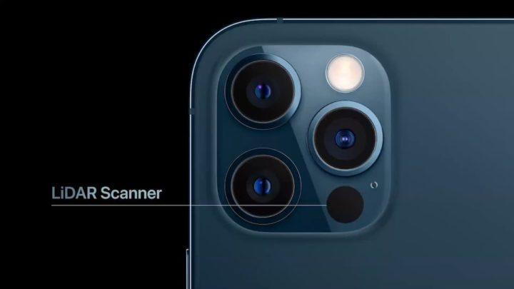 Imagem iPhone 12 Pro com LiDAR que chhegará ao iPhone 13 Pro e Pro Max