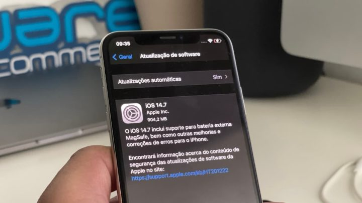 Imagem iOS 14.7 no iPhone X
