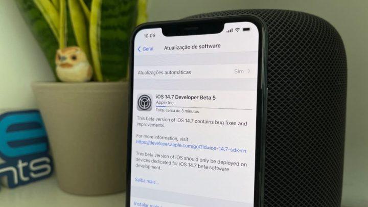 Imagem iOS 14.7 beta 5 da Apple