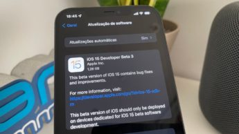Imagem iOS 15 beta 3 no iPhone 12 Pro Max