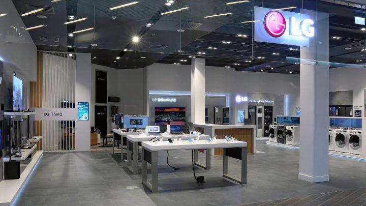 Imagem loja LG na Coreia do Sul que vai vender iPhone