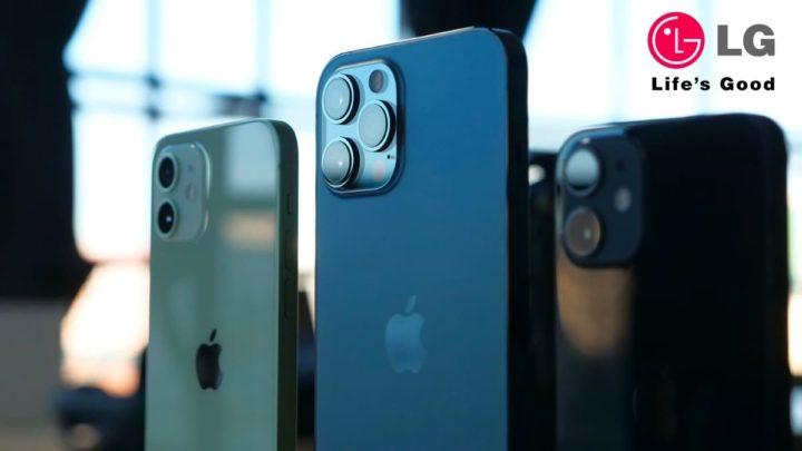 Ilustração iPhone 12 vendido pela LG na Coreia do Sul