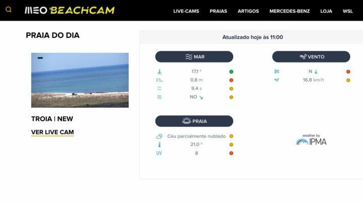 MEO Beachcam: Informação em tempo real sobre a lotação das praias