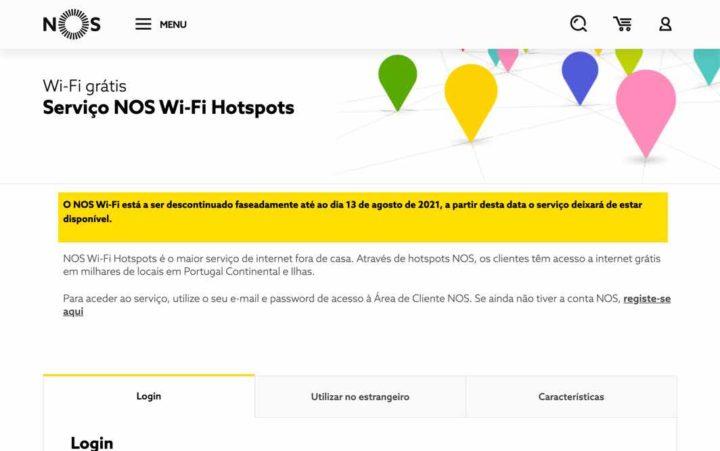 É o fim! NOS Wi-Fi é desativado a 13 de agosto