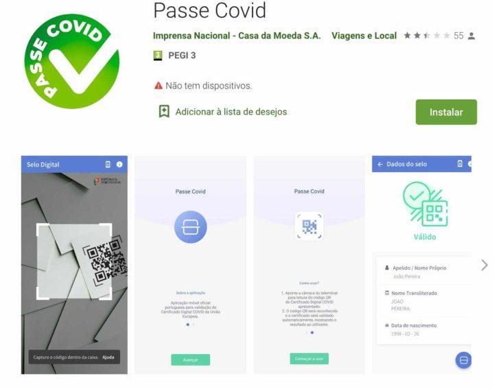 Passe Covid: A App que permite obter e ler Certificado Digital COVID UE