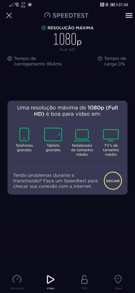 vídeo qualidade streaming smartphone teste