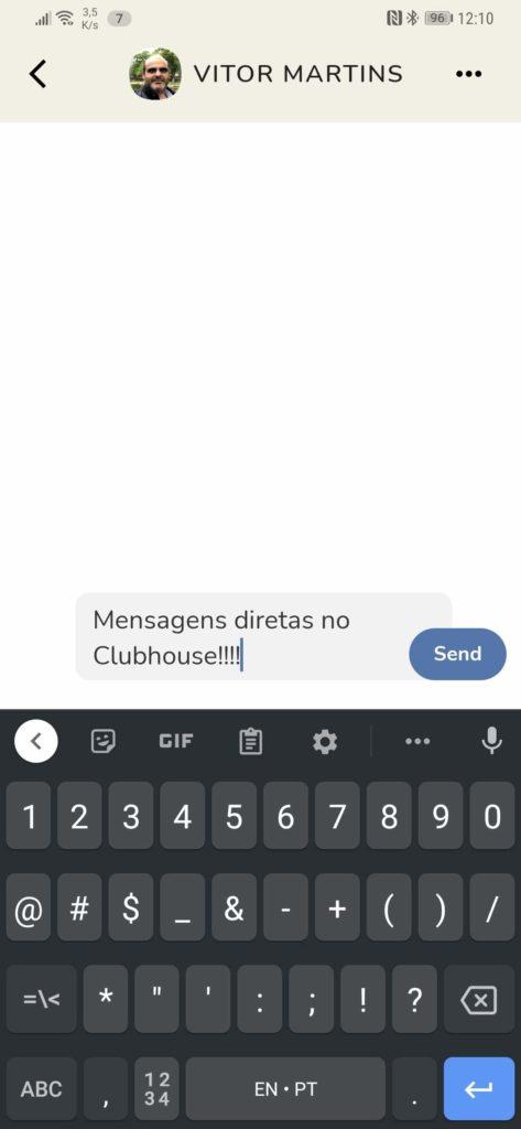 Clubhouse rede social áudio mensagens Backchannel