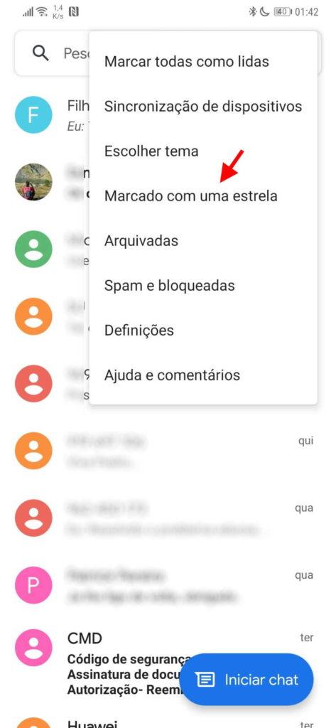 Mensagens respostas Google Android favoritas