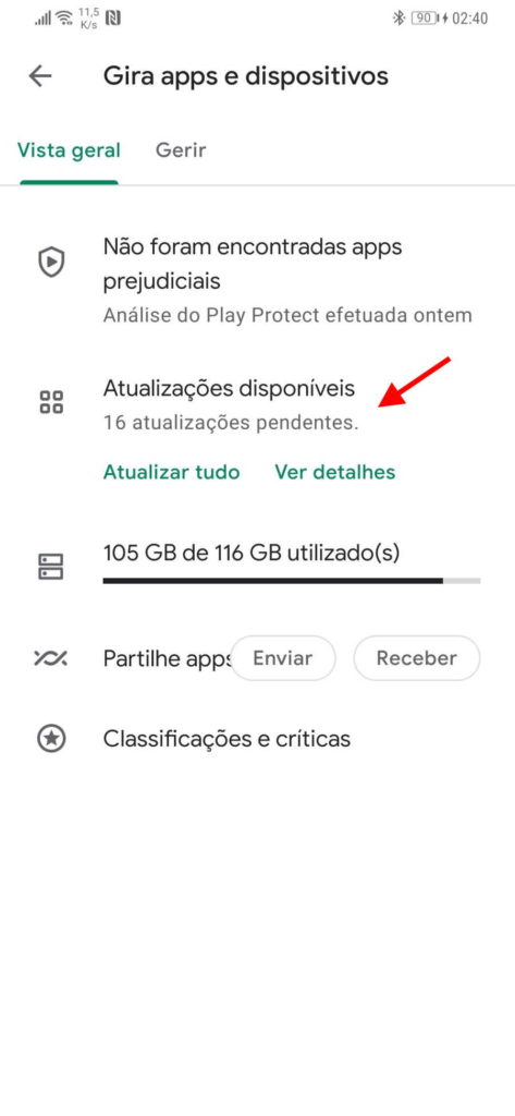 Play Store Android Google atualizar apps