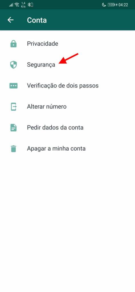 WhatsApp segurança código contactos utilizadores