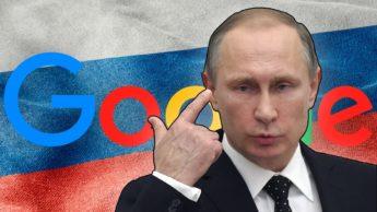 Ilustração Rússia multa Google