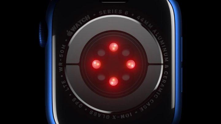 Imagem sensores do Apple Watch