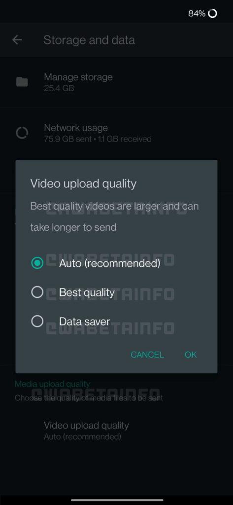 WhatsApp vídeos partilhar qualidade utilizadores