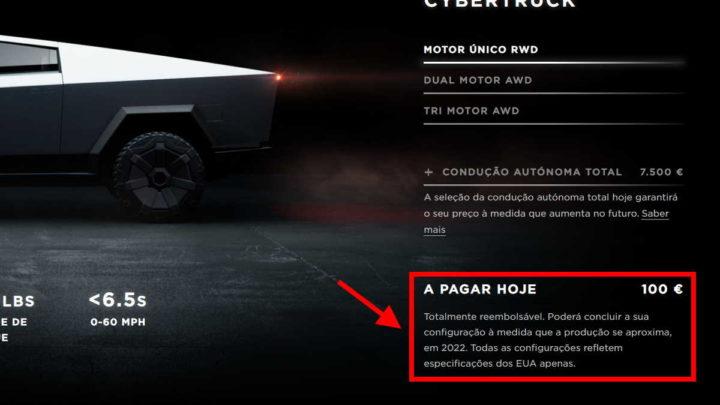 Cybertruck Tesla pickup elétrica 2022