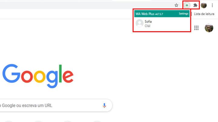 "Extensão ""WA Web Plus For WhatsApp"" do Google Chrome"