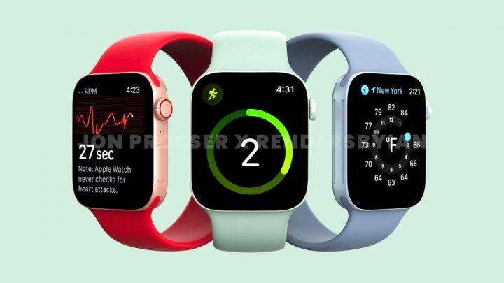 Apple com relógio de ecrã maior