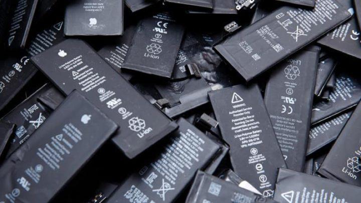 Imagem baterias de telemóveis