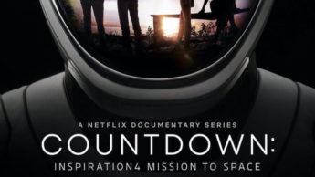 Cartaz do documentário da Netflix acerca do primeiro voo espacial comercial da SpaceX.