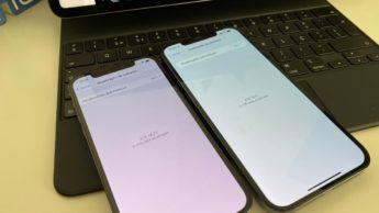 Imagem iphone 12 Pro e 12 Pro Max com iOS 14.7 e iOS 15 da Apple. Será quem vem aí o iOS 14.8?