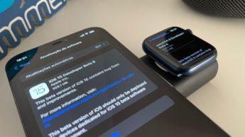 Imagem iOS 15 beta 8 e watchOS 8 beta 8