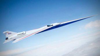 Imagem do avião super sónico da NASA o X-59