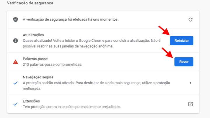 Chrome browser Google segurança proteger