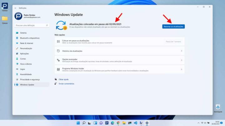 Windows 11 atualizações pausa Microsoft problemas