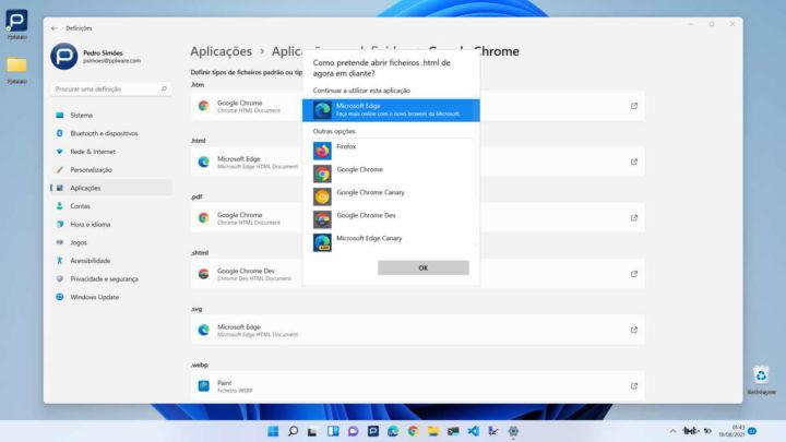 Microsoft Windows Edge-Mudar