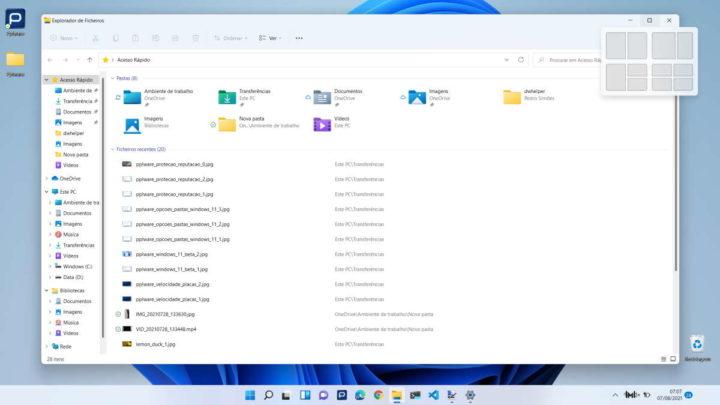 Windows 11 Encaixar janelas Microsoft maximizar