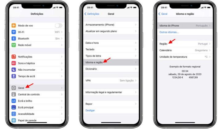 iPhone bateria desempenho região fluído