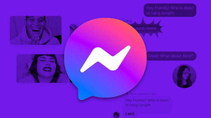 Messenger Facebook som mensagens alertas