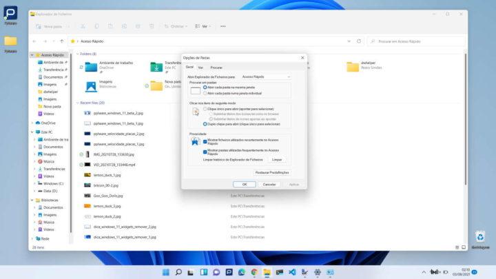Windows 11 Microsoft Opões Pastas Ficheiros