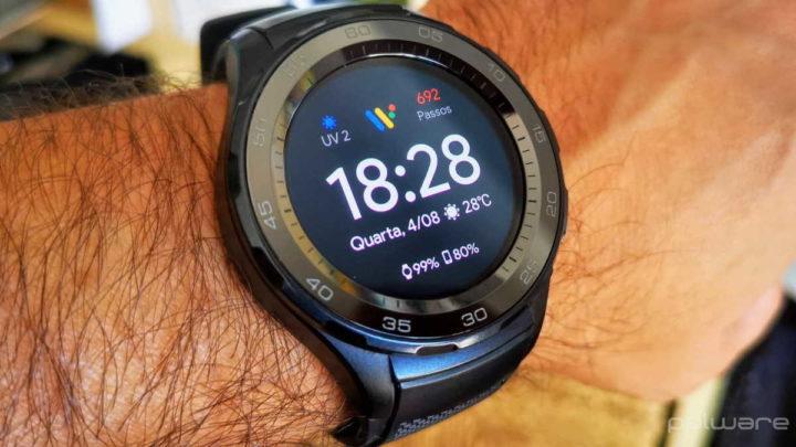 smartwatch Wear OS rápido animação escala