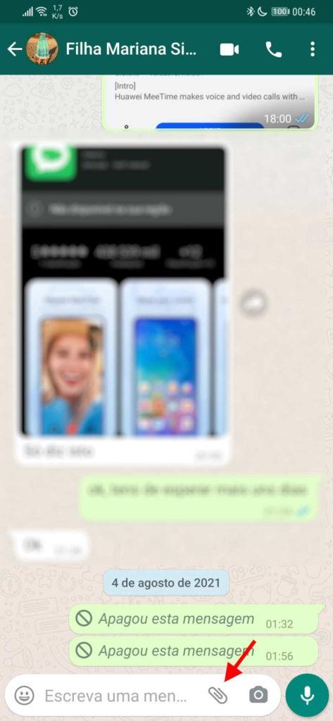 WhatsApp fotografias vídeos visualização única
