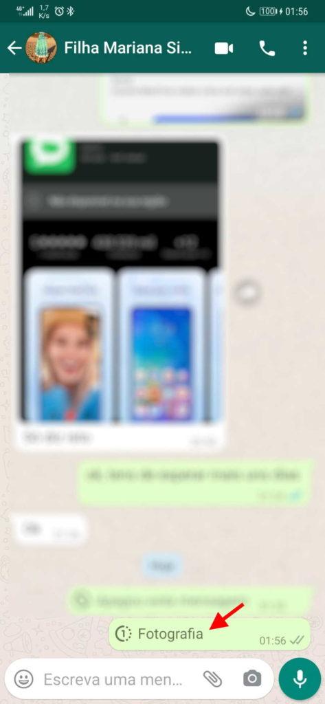 WhatsApp fotos vídeos visualização única