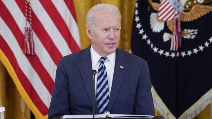 Presidente dos EUA, Joe Biden, durante a reunião com os executivos das empresas de tecnologia sobre cibersegurança.