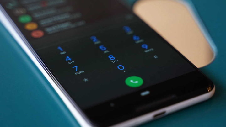 Android chamada voz alta ligar