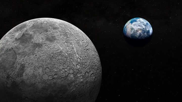 Imagem da Lua que abranda a rotação da Terra mas aumenta o dia que produz mais oxigénio