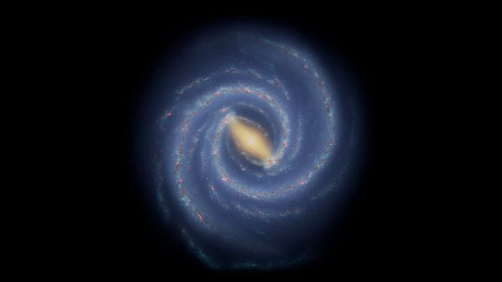 Ilustração da galáxia Via Láctea