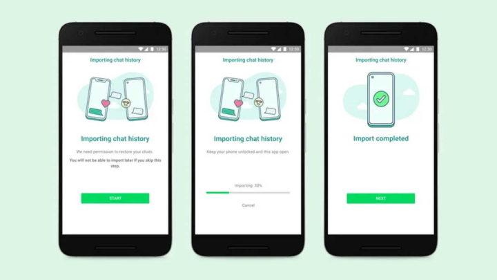 WhatsApp transferir mensagens Android iOS