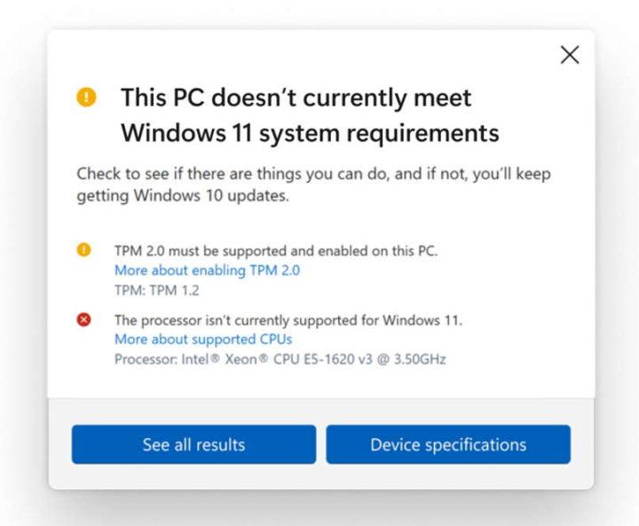 Requisitos del sistema para procesadores Microsoft Windows 11 TPM 2.0
