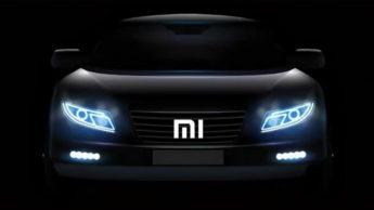 Representação de um carro da Xiaomi