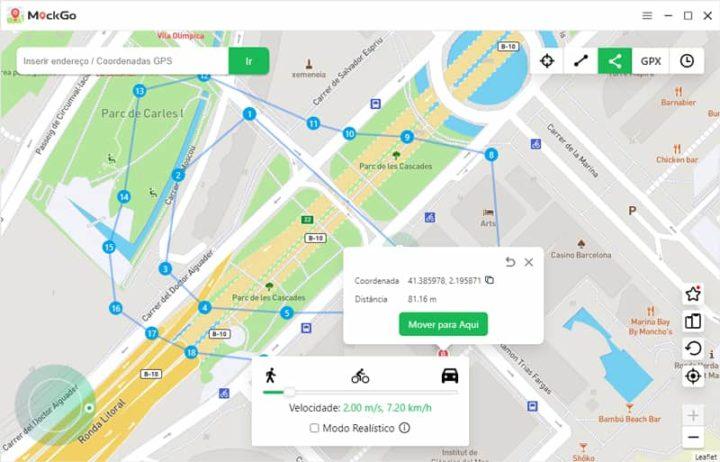 Alterar localização GPS do iPhone ou iDispositivo com Foneazy MockGo