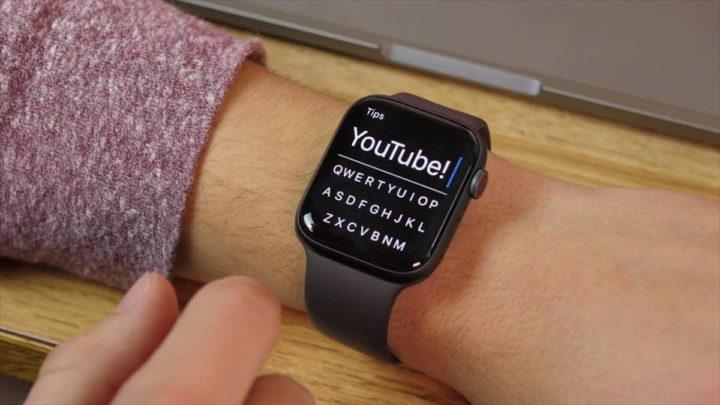 Apple Watch teclado FlickType regras