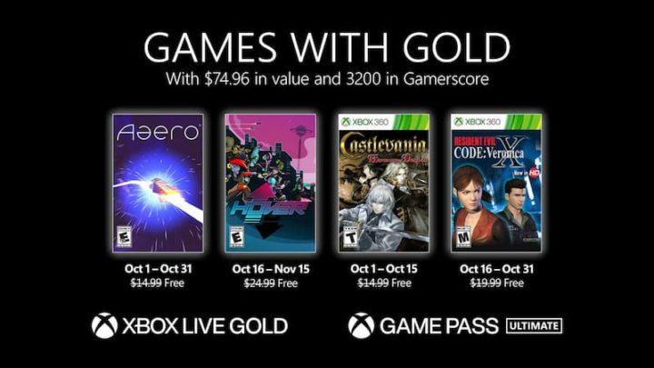 Games with Gold – outubro de 2021, na sua Xbox