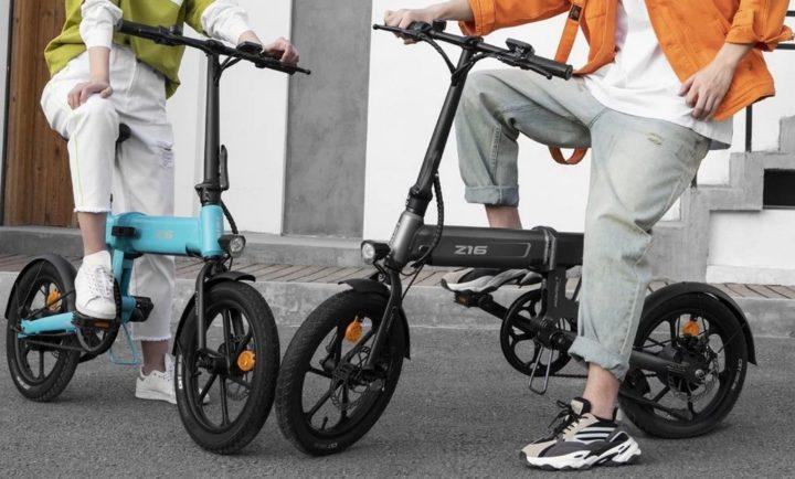E-bike HIMO Z16 - bicicleta elétrica dobrável com autonomia combinada até 80km