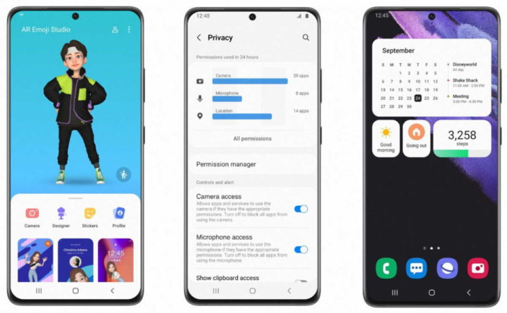 Samsung One UI 4.0 Android 12 smartphones